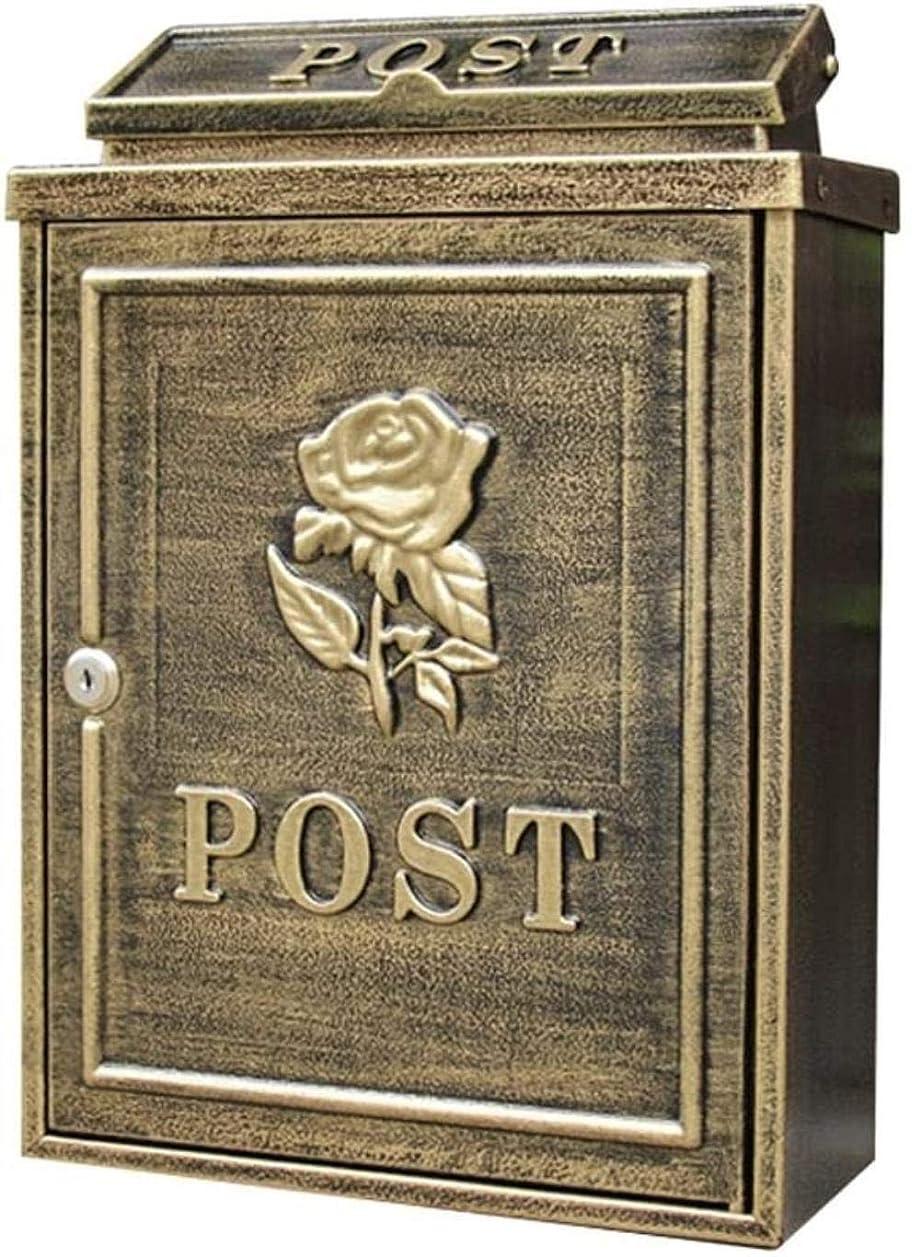 削減棚強盗郵便受け屋外防水メールボックス屋外の雨水ヴィラメールボックスにロックレターボックス (Color : Antique)