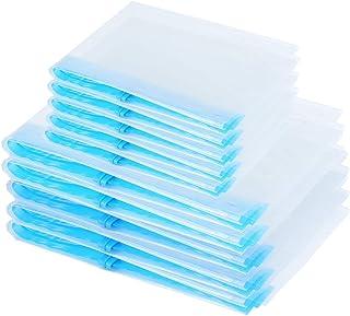 Color Gris y Azul Qisiewell 60 x 35 x 43 cm, con asa Reforzada y Cremallera Estable, Tela Gruesa, Plegable, 5 Unidades Bolsa de Almacenamiento para Ropa