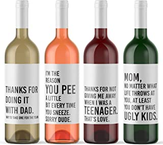 Stepmom Inspired Bottle Decal /& Greeting Card from Child Funny Mothers Day Custom Wine Label /& Card Personalized Novelty Sticker /& Stationery Printed in the USA by RitzyRose