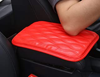 Auto Center Console Pad, Forala Car Armrest Seat Box Cover Protector Universal Fit (C-Red)