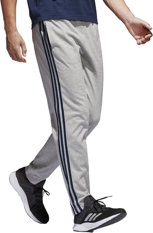 Amazon.com: adidas Essentials 3S Tapered Single Jersey Pant ...