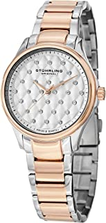 Stuhrling Original Culcita Women's Quartz Watch with White Dial Analogue Display and Multicolour Stainless Steel Bracelet ...