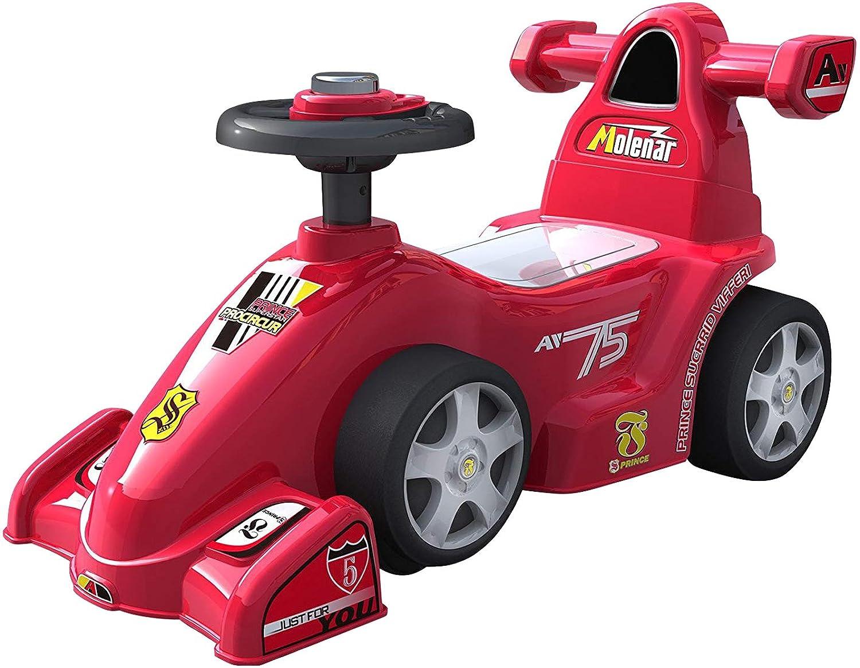 乗用玩具 足けり乗用 F1レーシング 乗用玩具 押し車 子供用乗物 室内玩具 乗物玩具 [足けりF1 601] (レッド)
