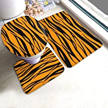 ZhangYu Tapis de Sol Tiger Print 3 Pieces Bathroom Rugs Set Soft Bath Mats Washable..