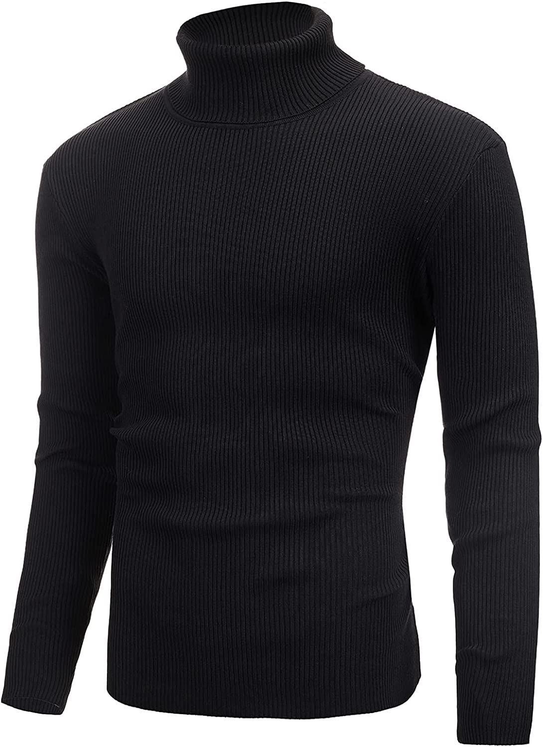 lisenraIn Turtleneck Sweater for Men Long Sleeve Pullover Fashion Slim Fit Knitted Jumper Ribbed Knitwear Sweaters