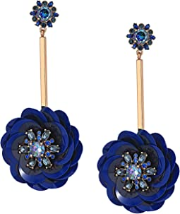 Kate Spade New York - Snowy Nights Sequin Linear Statement Earrings