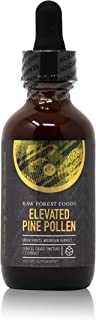RAW Forest Foods - Elevated Pine Pollen Tincture with Stinging Nettle Root, Chen Pi and Zhi Zi (2 Ounce) - Support Endocrine System, Balance Hormones, Adaptogenic, Antioxidant and Nutrient Rich