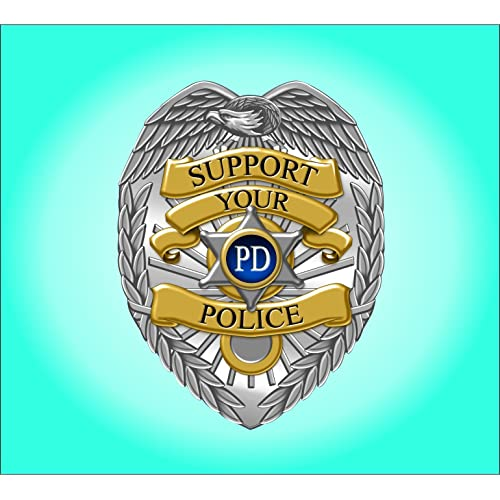 GENUINE POLICEMAN MADE IN USA PEEL AND STICK VINYL STICKER 3x2.5 inch