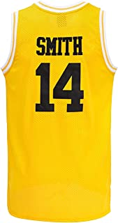 Mens #14 Smith Jersey The Fresh Prince Bel Air Basketball Jersey S-3XL