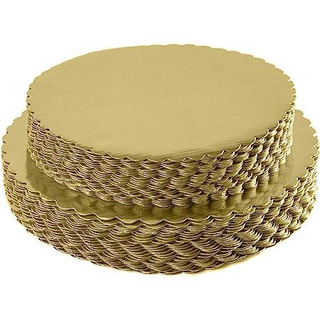 8 Dia 100 per Case Cake Boards High-Gloss Gold Round