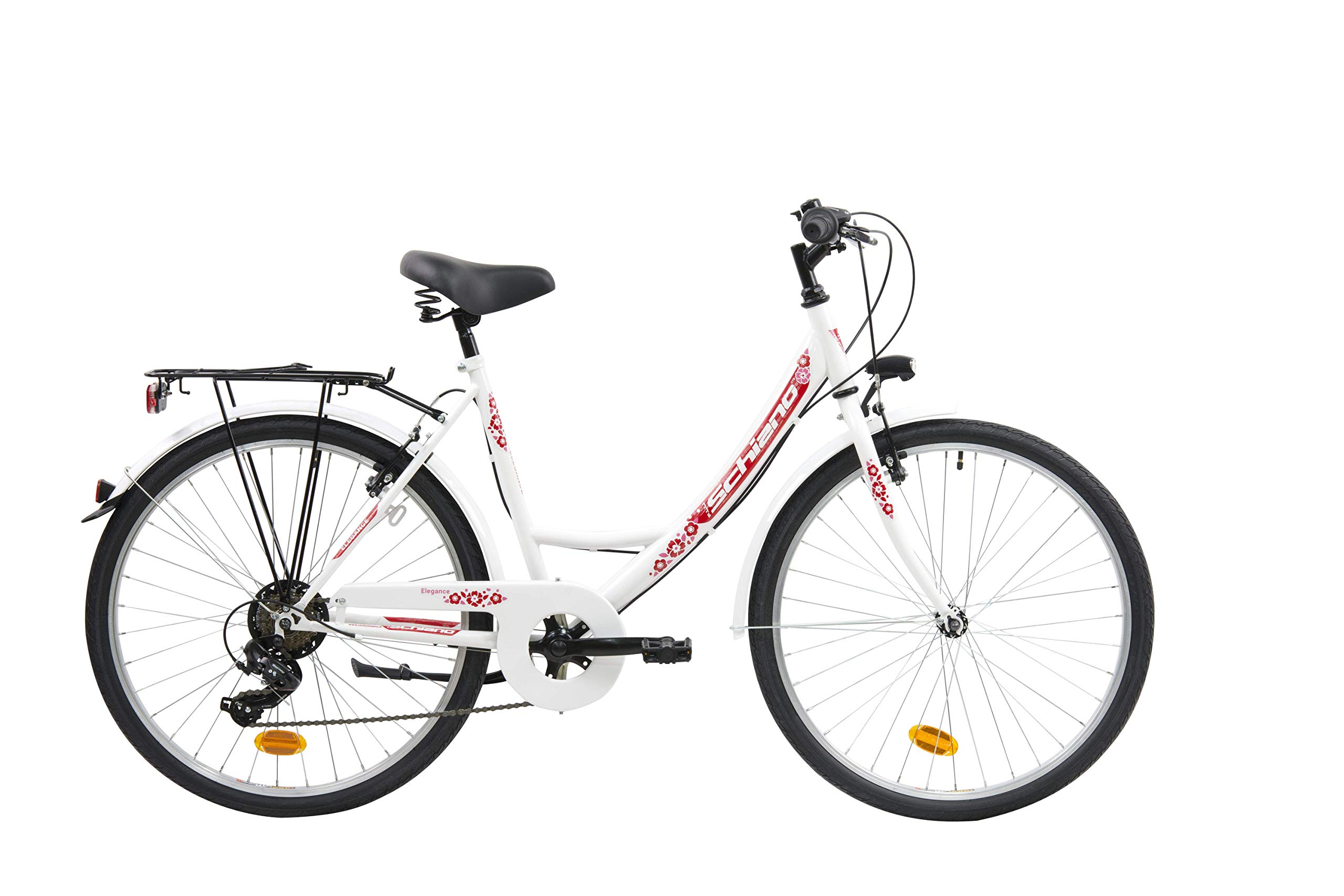 F.lli Schiano Elegance Bicicleta Urbana, Womens, Blanco-Rojo, 26 ...