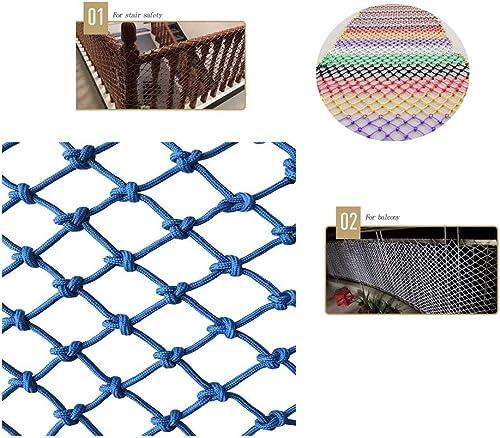 WLnet Filet Anti-Chute de sécurité, Jardin d'enfants Balcon Prougeection Anti-escalier Couleur Filet en Nylon décoratif tissé à la Main (Taille  2  2M)