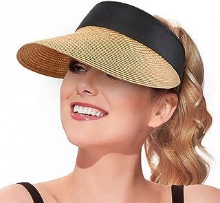 قبعات واقية من الشمس للنساء مقاس كبير للوقاية من أشعة الشمس قبعة شاطئ واقية من أشعة الشمس