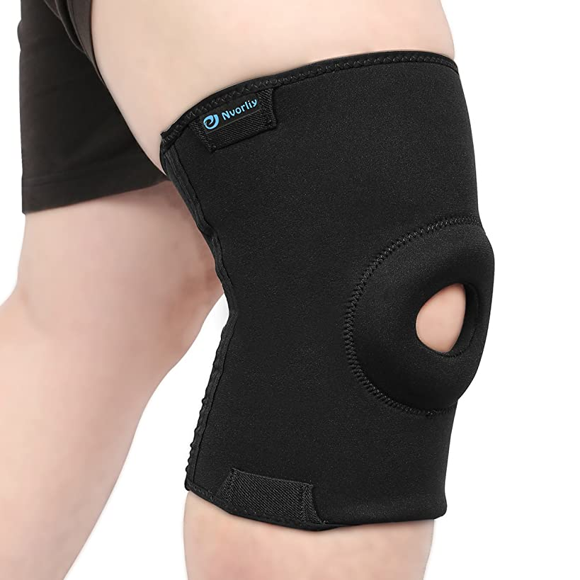 Nvorliy 3XL Plus Size Knee Compression Sleeves Design for Large Size Legs Support for Running, Sports Exercise, Joint Pain Relief, Arthritis, ACL and Post-Surgery Recovery, Fit Men and Women (3XL)
