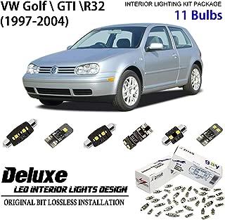 ZIYO ZPL9104 - (11 Bulbs) Deluxe LED Interior Light Kit 6000K Xenon White Dome Light Bulbs Replacement Upgrade for 1997-2004 (MK4) Volkswagen Golf GTI R32