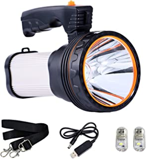 comprar comparacion ROMER LED Rechargeable Handheld Searchlight High-Power Super Bright 9000 MA 6000 LUMENS CREE Tactical Spotlight Torch Lant...