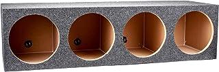 "Q Power HD12 4HOLE Heavy Duty Quad 12"" Sealed Subwoofer Enclosure Box"