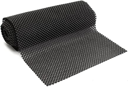 Ocamo 150cmx30cm Multipurpose Non-Slip Mat Black Anti Slip Mat Roll for Home Office Cars Caravans Use - Can Be Cut to Any Size Easily
