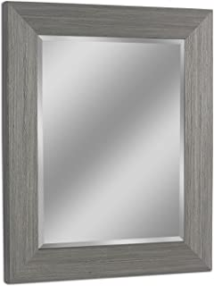 Headwest 8012 Rustic Box Driftwood Wall Mirror in Light Grey,