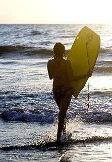 Posterazzi Woman On Beach Carrying Bodyboard Puerto Vallarta Mexico Poster Print, (12 x 19)