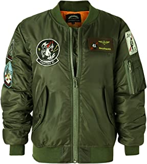 Classic Bomber Jacket Women Nylon Quilted with Patches
