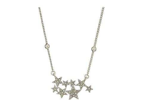 HOUSE OF HARLOW 1960 Star Cluster Dainty Necklace, Silver