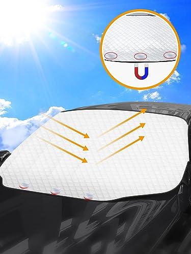 Tevlaphee Pare Soleil Voiture Pare Brise Avant, Protection Avant Parfaite Contre Les Rayons UV et la Chaleur dans Vot...