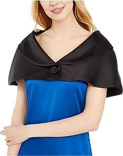 CALVIN KLEIN Womens Black Button Shrug Sleeveless V Neck Evening Sweater AU Size:14