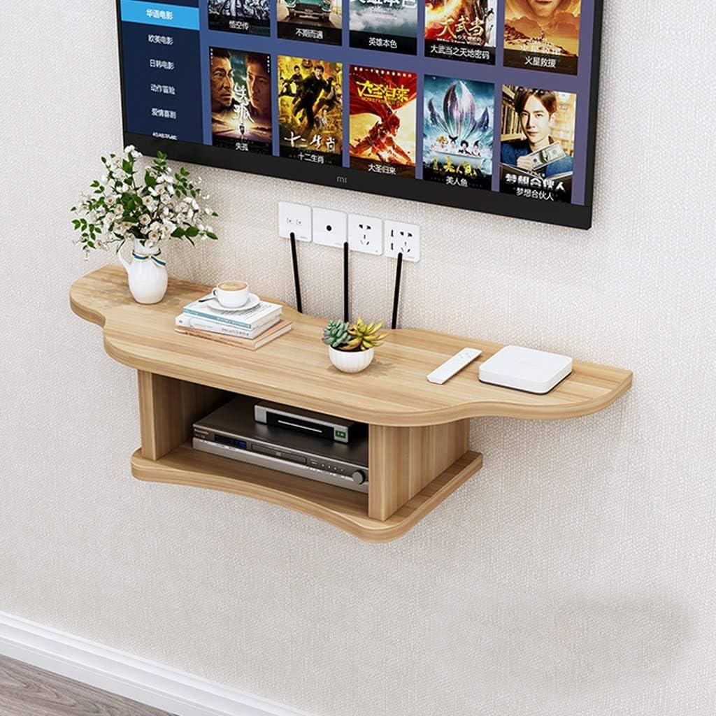 v/ídeo Concole for Blu-Ray Soporte de pared flotante de TV Estante de TV Consola de TV Soporte de estante colgante de componentes de audio consolas de videojuegos altavoces tama/ño peque/ño