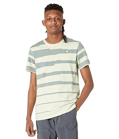 G-Star Pixalated Stripe Round Neck T-Shirt Short Sleeve