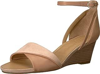 Franco Sarto Women's Deirdra Wedge Sandal, Peach, 5 M US