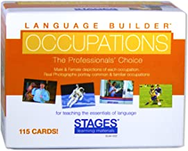 Stages Learning Materials Language Builder Occupation, Career & Community Helper Picture Flashcards Photo Cards for Autism Education and ABA Therapy