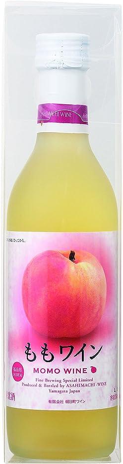 レトルト中大混乱朝日町ワイン ももワイン [ 白ワイン 甘口 日本 360ml ]