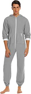 Ekouaer 0ne Piece Pajamas Womens Long Sleeve Onesie Non Footed Union Suit S-XXL