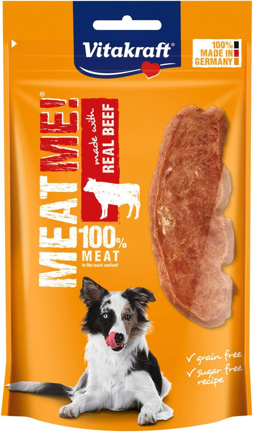 Vitakraft - Meat Me, Snacks para Perros de Carne de Pollo y Ternera en Tiras - 60 g