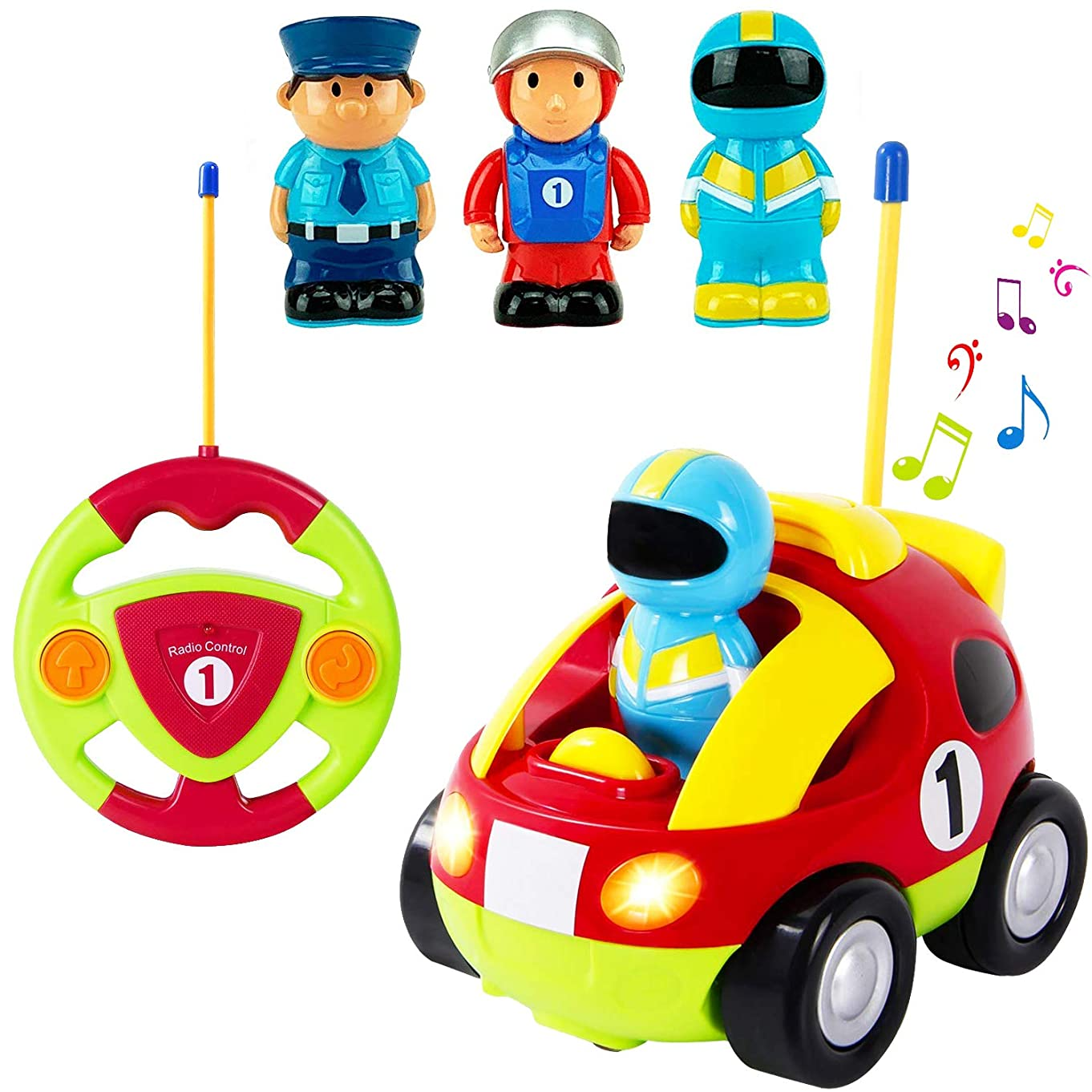 Liberty Imports Cartoon R/C Race Car Radio Control Toy for Toddlers (English Packaging) y96527091
