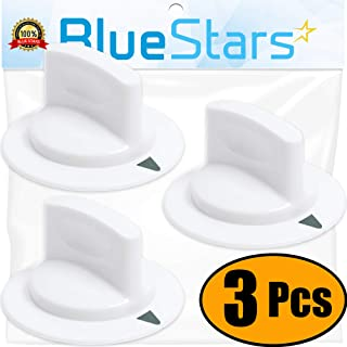 Ultra Durable WE1M652 Dryer Timer Knob Replacement Part by Blue Stars - Exact Fit for Hotpoint & General Electric Dryers - Replaces 1264289 AP3995164 PS1482196 - PACK OF 3