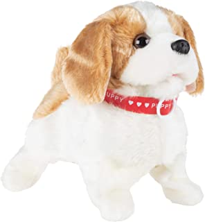 Happy Trails Interactive Plush Puppy Toy– Battery Operated Dog That Walks, Barks & Does Back Flips, Soft & Snuggly Fur, Stuffed Animal Robot