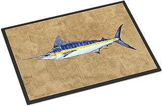 Caroline's Treasures 8818MAT Blue Marlin Indoor or Outdoor Mat 18x27, 18H X 27W, Multicolor