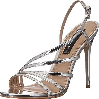 STEVEN by Steve Madden Women's Belize Sandal, Silver Leather, 10 M US