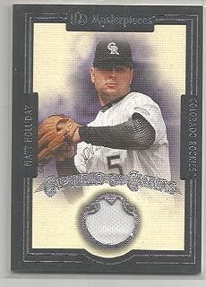 2007 UD Masterpieces Baseball Matt Holliday Captured On Canvas Jersey Card