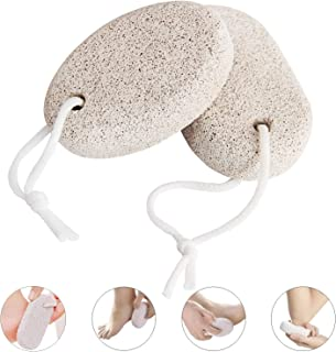 Natural Pumice Stone for Feet Callus (2 PCS), Pinowu Foot Scrub Natural Foot File Exfoliation to Remove Dead Skin
