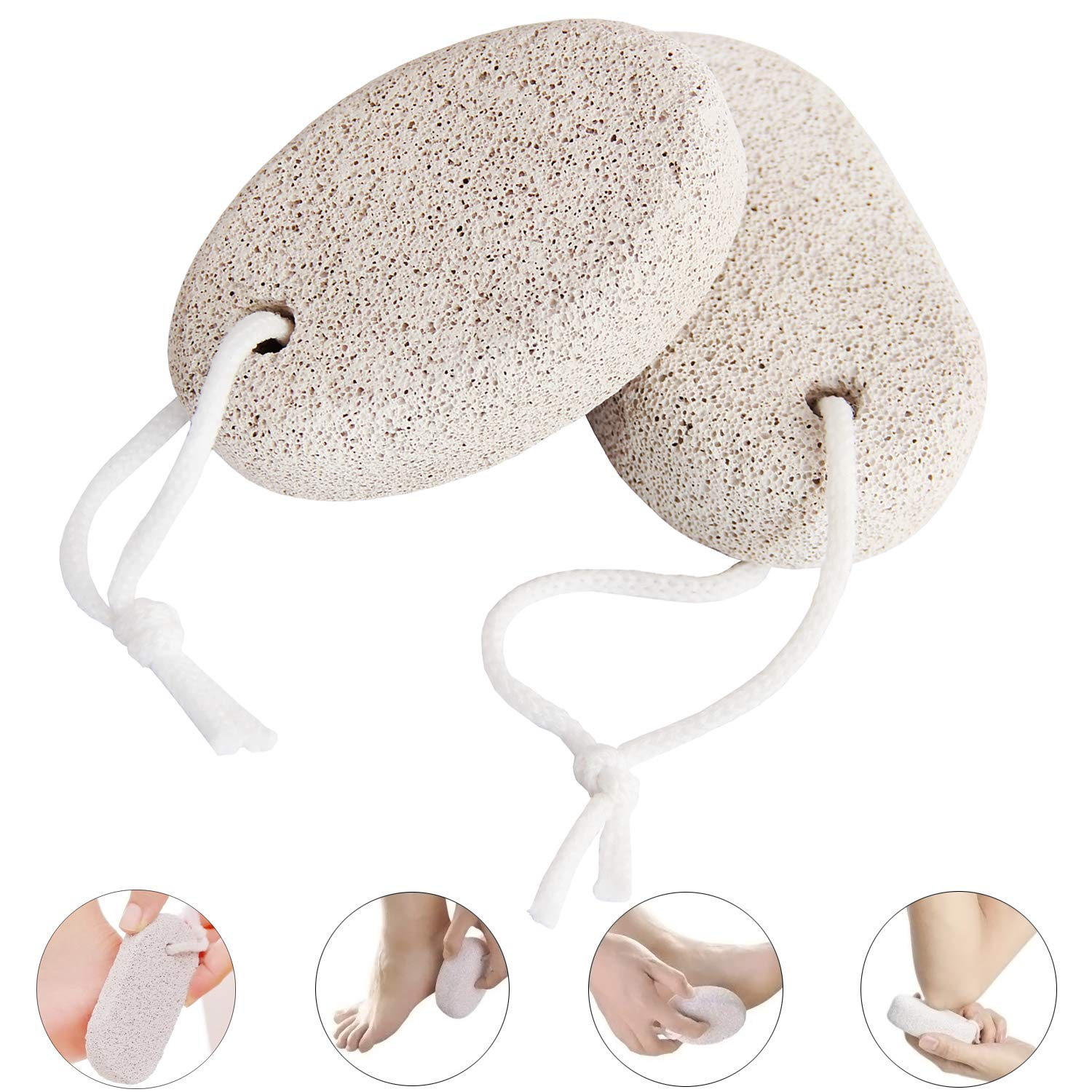 Natural Pumice Stone for Feet Callus Challenge the lowest Manufacturer direct delivery price Scrub PCS Foot Pinowu 2