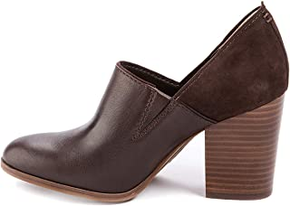 Lucca Lane Womens Kaison Leather Almond Toe Clogs, Dk Brown, Size 8.0