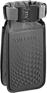 Lewis N. Clark Safebox Portable Safe with Anti Theft Combination Lock and Slash Resistant Material to Protect Wallet, iPhone and Valuables at the Beach, Pool, Camping + Hotel, Small