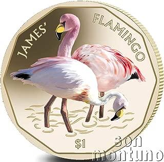 JAMES'S FLAMINGO - 2019 British Virgin Islands VIRENIUM One Dollar Coin $1 - Second Coin of New Flamingo Series