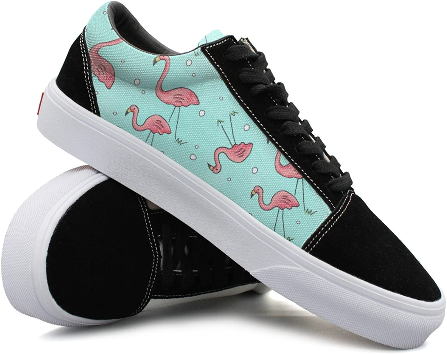 Women Flamingo Drawing Funny Canvas shoes