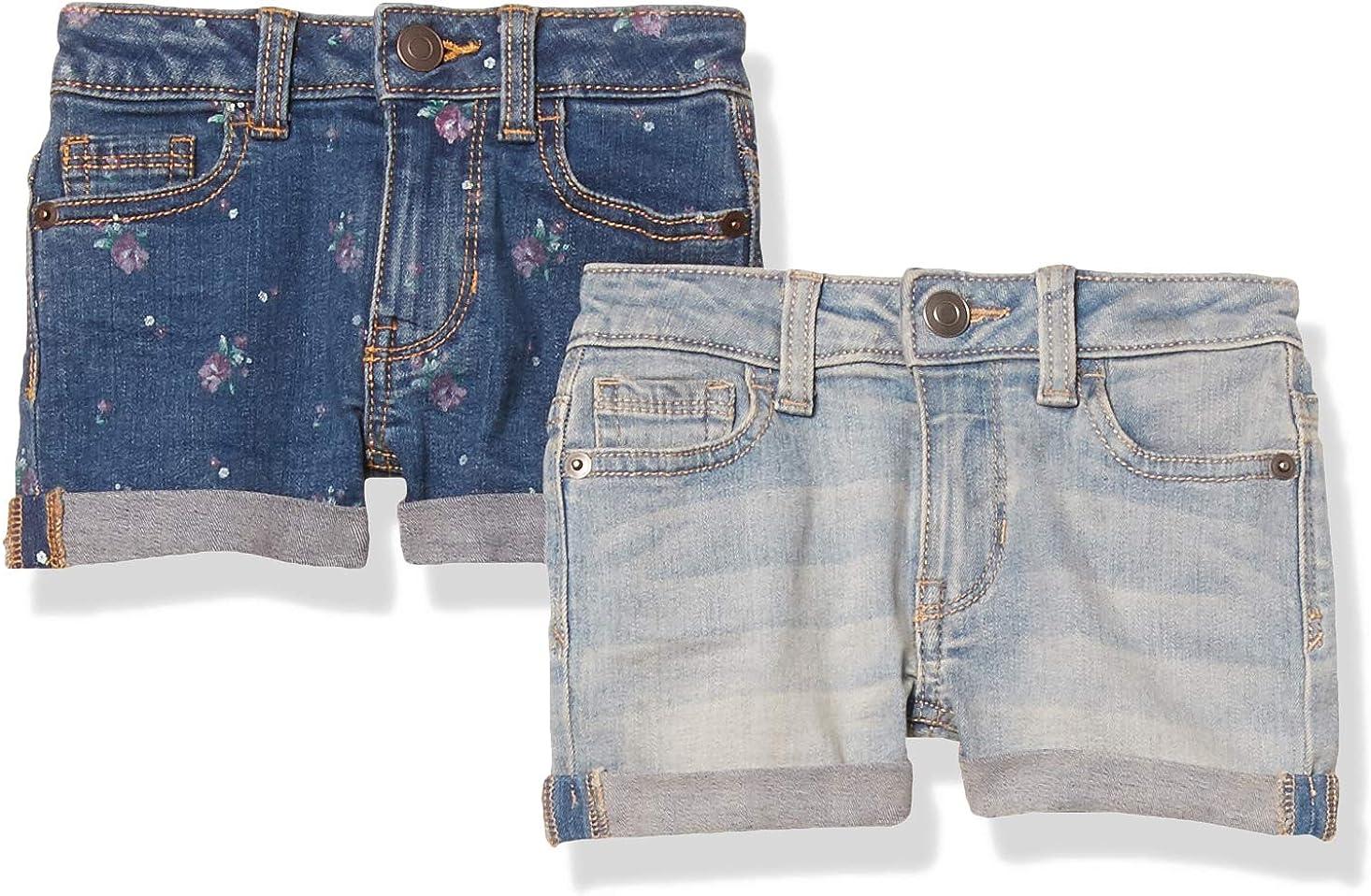 Essentials Girls 2-Pack Denim Jean Short