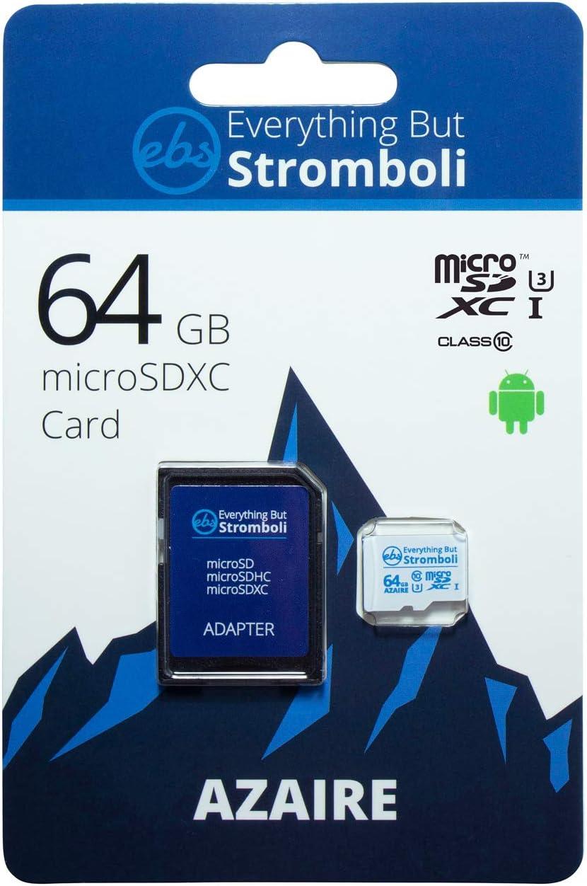 Everything But Stromboli 64GB Azaire MicroSD Memory Card Plus Adapter Works with Motorola Phones G Series Moto G7, G7 Play, G7 Power, G6, G6 Play, G6 Plus Speed Class 10, U3, UHS-1, Micro SDXC Card