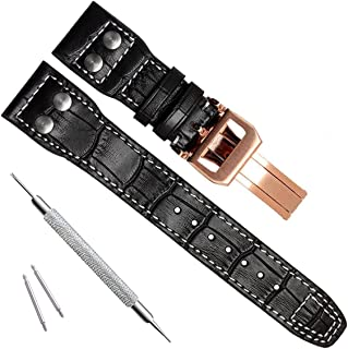 22mm Genuine Leather Watch Strap Band fit for IWC Pilot's Watchs